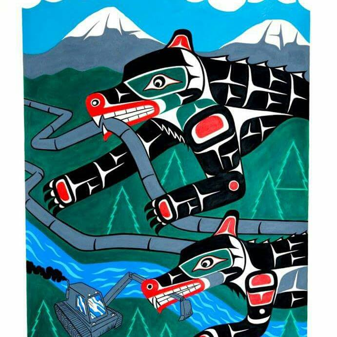 """""""No pipelines"""" by Gord Hill"""